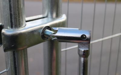 Säkerhetskoppling till Byggstängsel