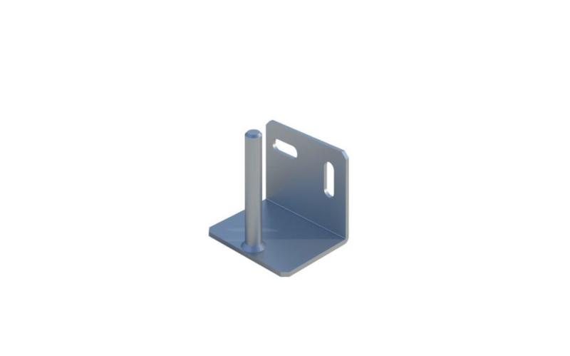 Väggkonsol för byggstängsel