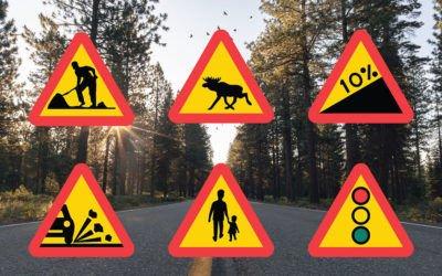 A. Varningsmärken